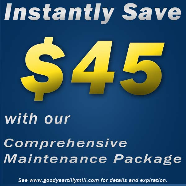 Goodyear Coupon for Comprehensive Maintenance Package, Tilly Mill Goodyear Auto Center, near Dunwoody, Doraville, Chamblee and Peachtree Corners, GA
