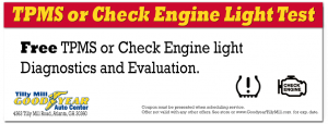 Coupon for TPMS and Check-Engine Light Diagnostics - Dunwoody, Doraville, Chamblee and Peachtree Corners, Georgia