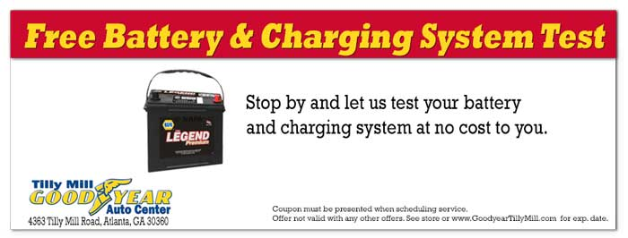Coupon for Battery Test Dunwoody and Doraville GA