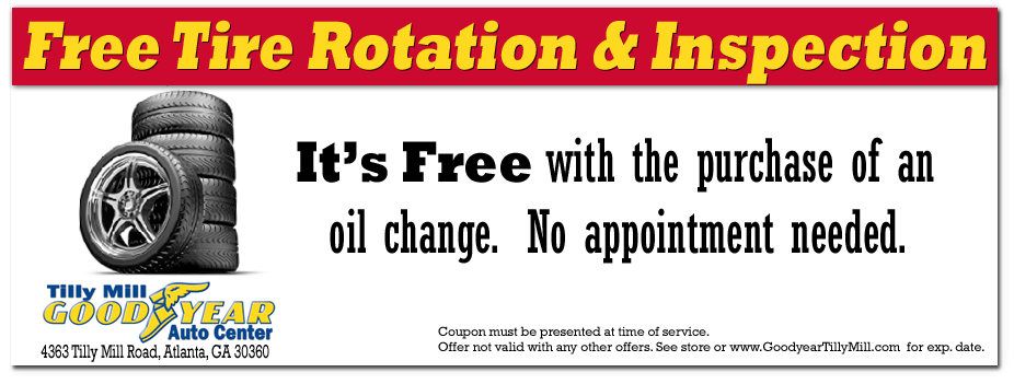 Coupon for Free Tire Rotation - Dunwoody, Doraville, Chamblee and Peachtree Corners, Georgia
