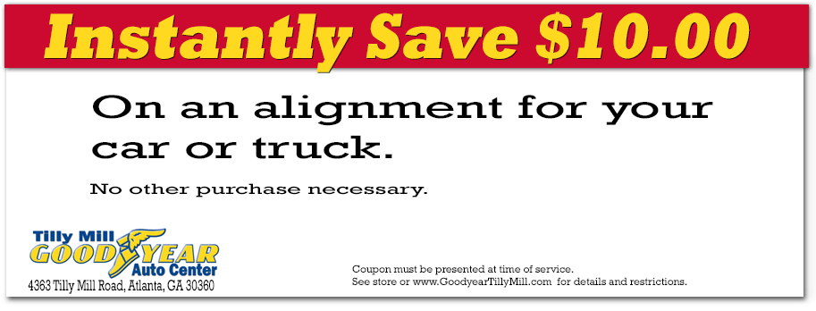 Coupon for alignment